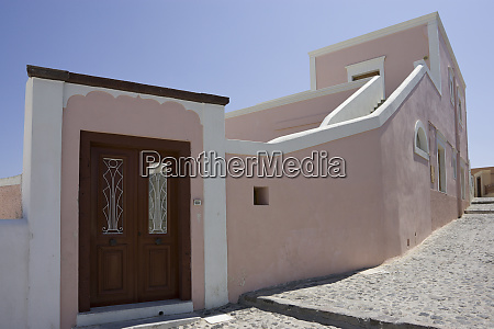 greece santorini thira oia pink villa