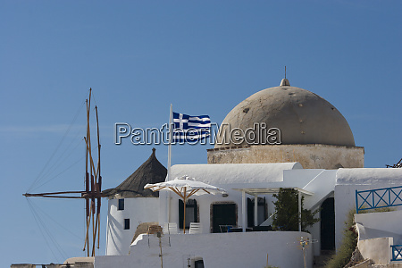 greece santorini thira oia windmill and