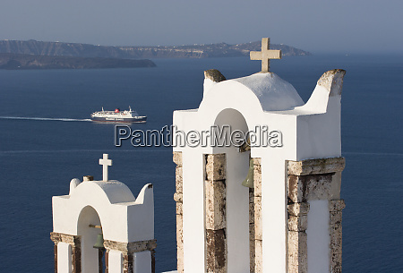 greece santorini thira oia two greek