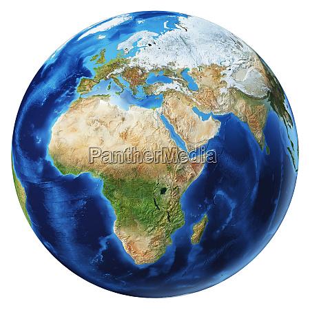 globo terra 3d ilustracao Africa Asia