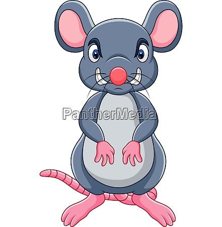 desenho animado rato irritado