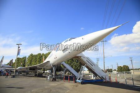 aviao supersonico concorde no museu de
