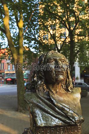 busto de chefe seattle sealth pioneer