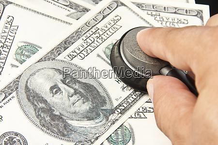 exame, dos, dólares, americanos - 28083496