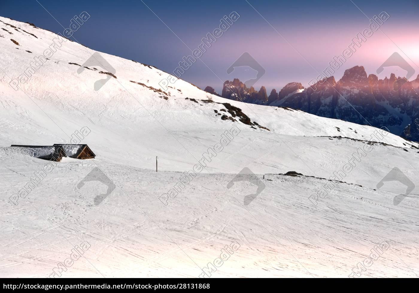 esquiando, no, tyrol, de, southern - 28131868