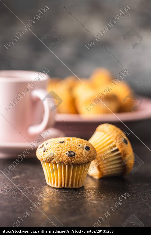bolinhos, de, chocolate, saborosos., cupcakes, doces. - 28135253