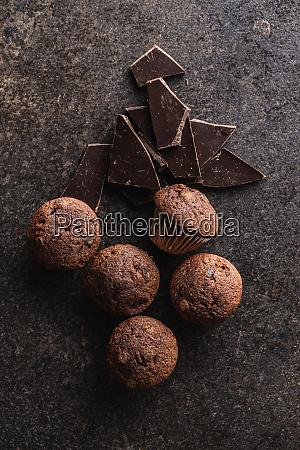 bolinhos, de, chocolate, saborosos., cupcakes, doces. - 28135277
