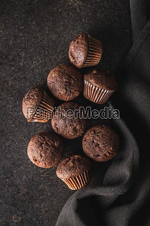 bolinhos, de, chocolate, saborosos., cupcakes, doces. - 28135278
