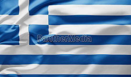 agitando bandeira nacional da grecia