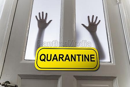 woman isolated on coronavirus quarantine