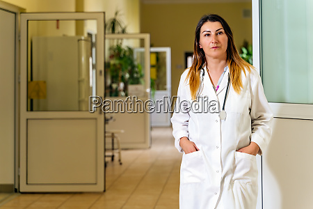female doctor standing in a hospital
