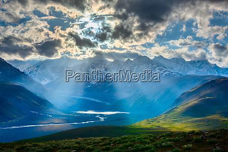 himalayan landscape with himalayas mountains