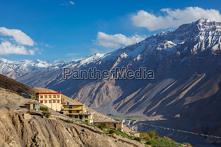 new dhankar monastery dhankar village in
