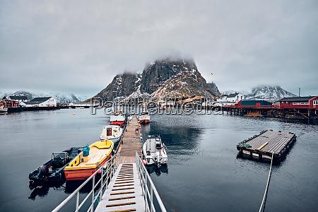 hamnoy fishing village on lofoten islands