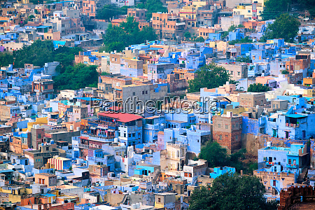 aerial view of jodhpur blue city