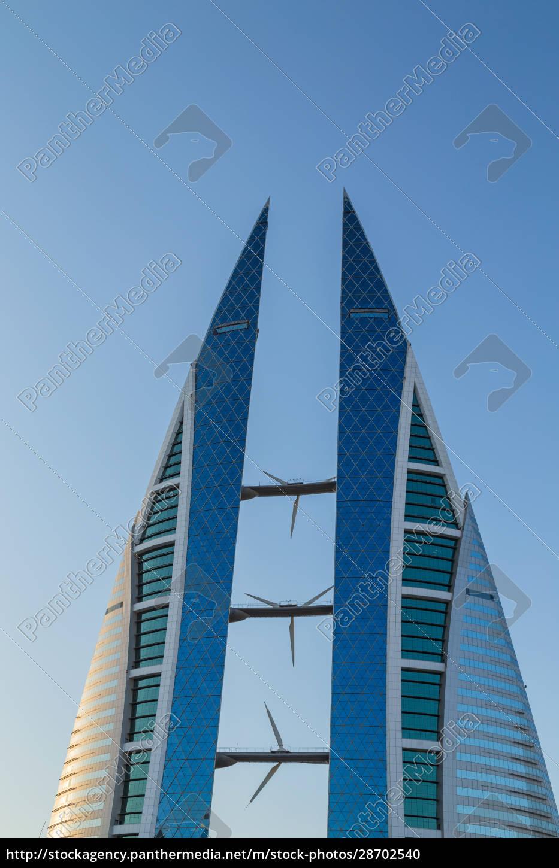 edifício, de, arranha-céus, no, bahrein - 28702540