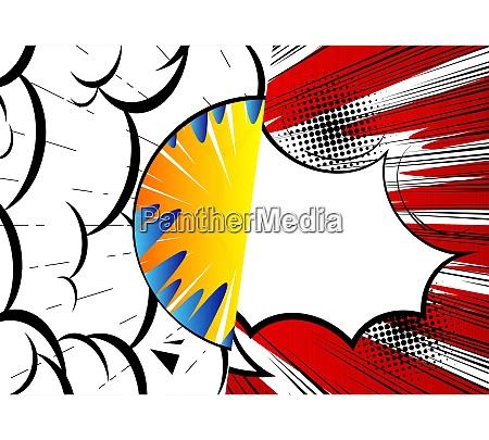 pop art comic design fundo colorido