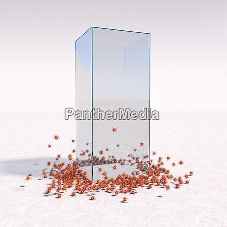 gaiola de vidro como covid 19