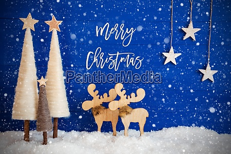 Árvore, de, natal, alce, neve, estrela, texto, feliz, natal, flocos, de - 28851511
