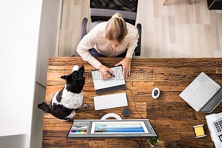web designer grafico trabalhando com foto