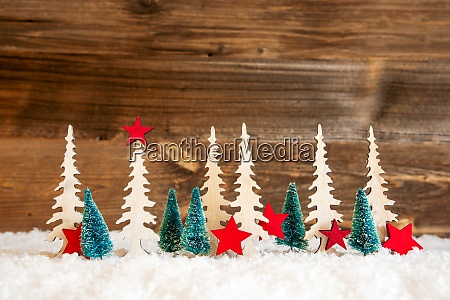 Arvore de natal neve estrela vermelha