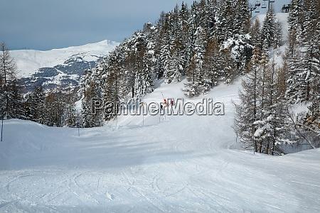 pistas de esqui do topo