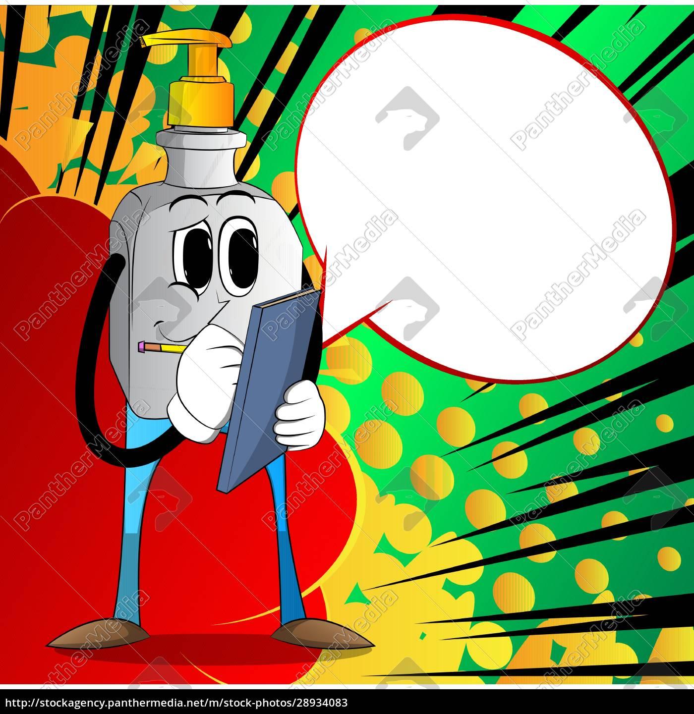 garrafa, de, gel, de, desinfetante, de - 28934083