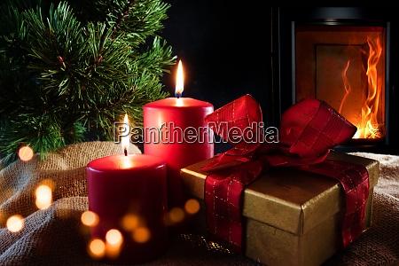 decoracoes de natal com fogo de