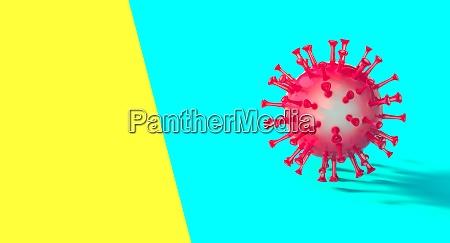 virus covid 19 vermelho em fundo