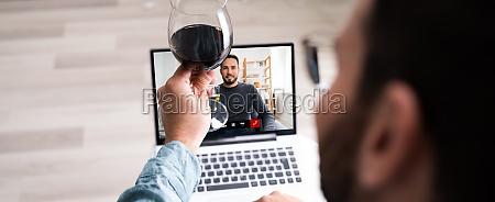 festa, de, beber, vinho, virtual, online - 29002685