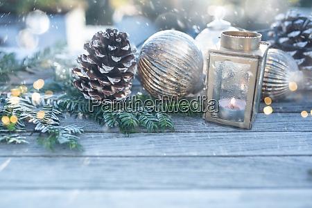 decoração, de, natal, com, flocos, de - 29005353