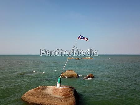 vista aerea bandeira da malasia no