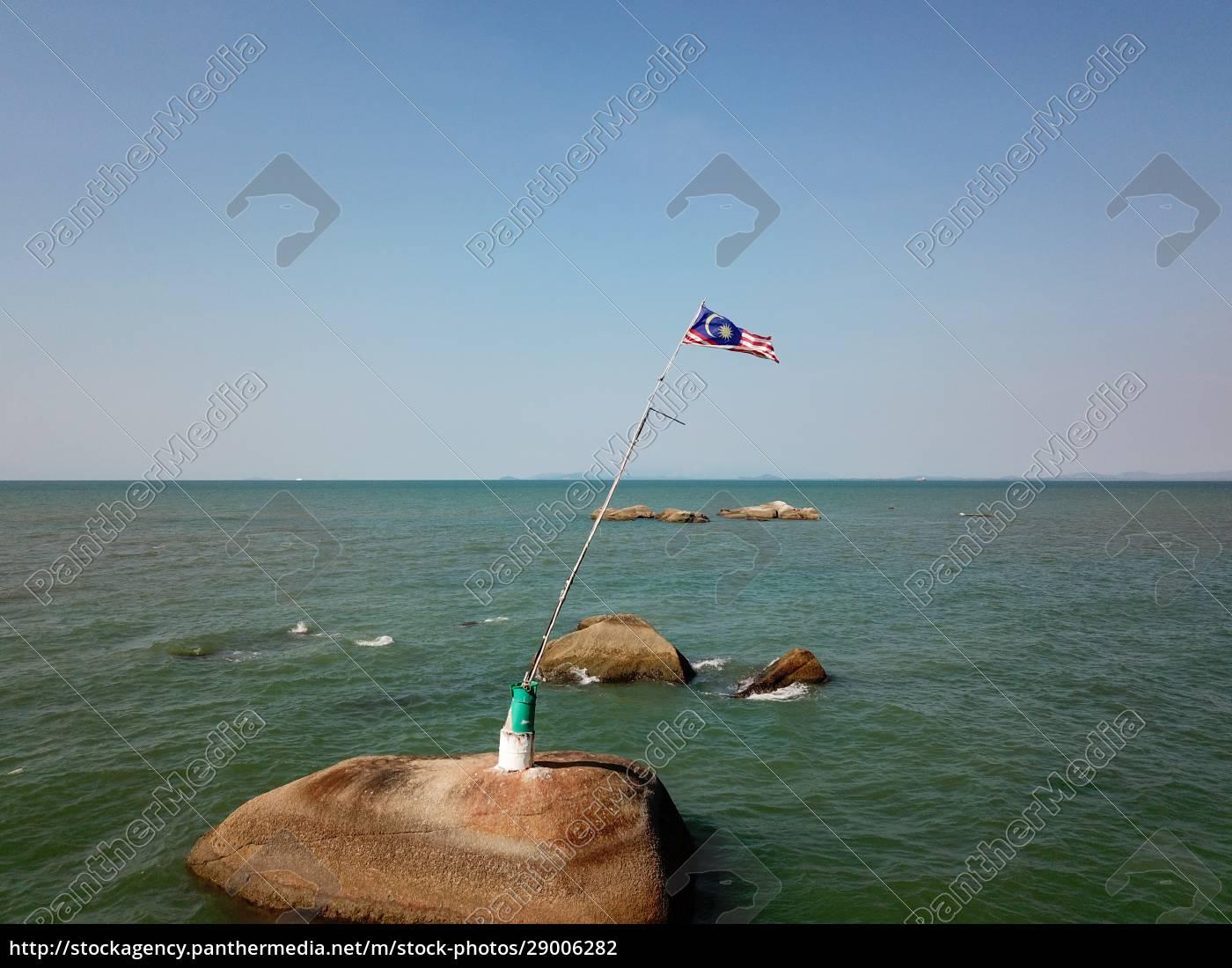 vista, aérea, bandeira, da, malásia, no - 29006282