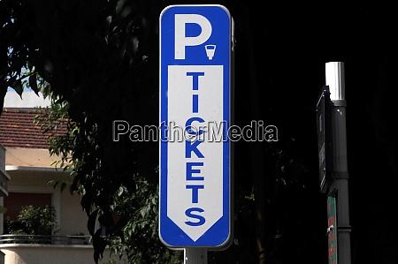 simbolo logotipo permissao de estacionamento multa