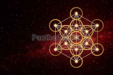 conexao forma de estrela metatron geometria