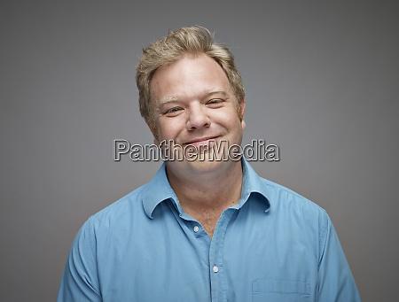 retrato do homem feliz