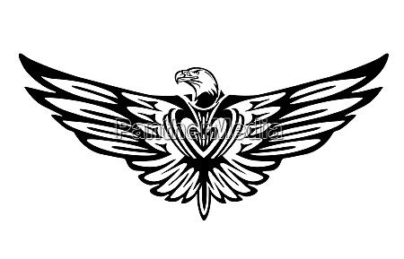 grafico de aguia icone de passaro