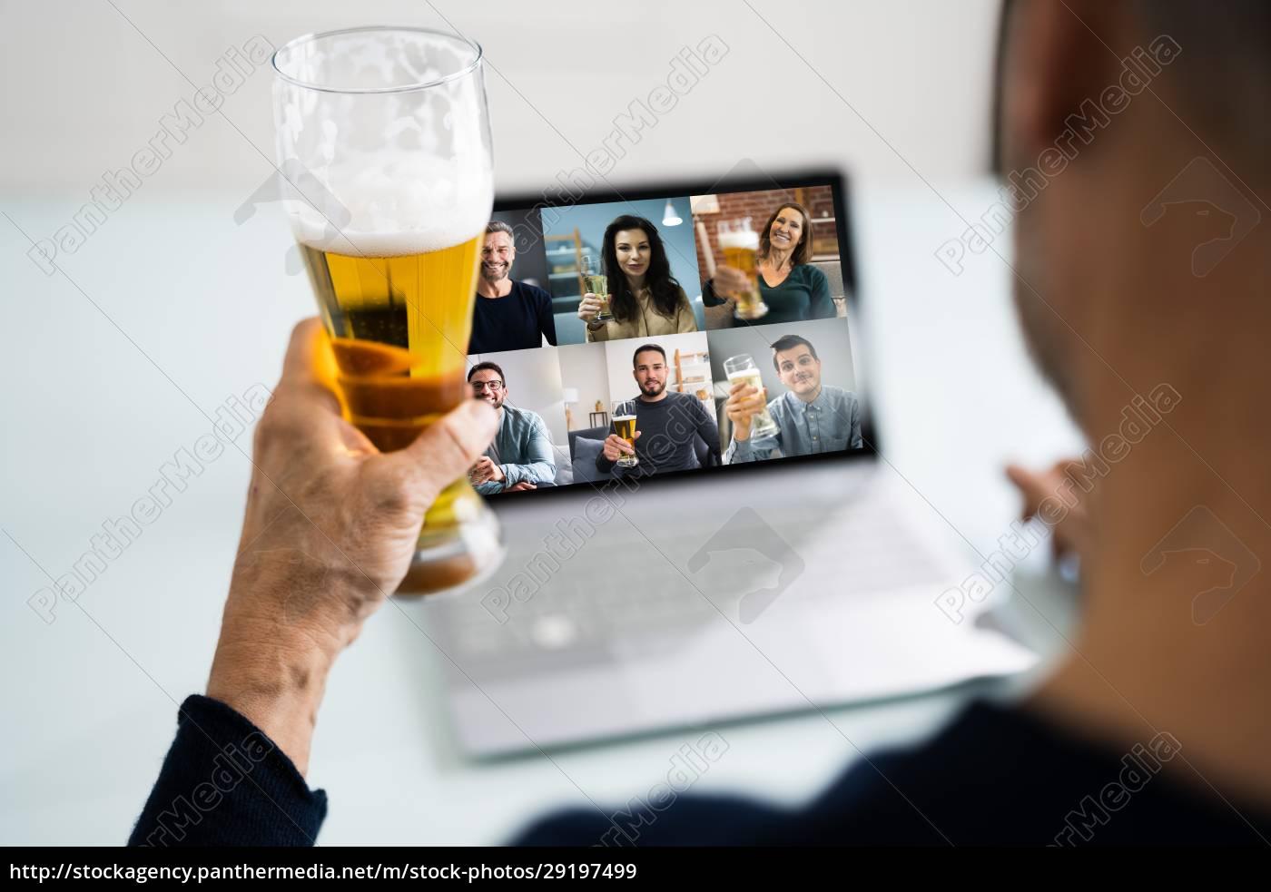 festa, online, da, bebida, virtual, beer - 29197499