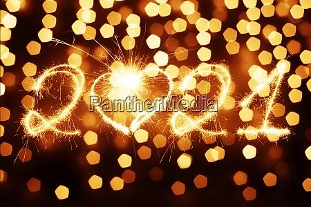 feliz passado de ano novo comeca