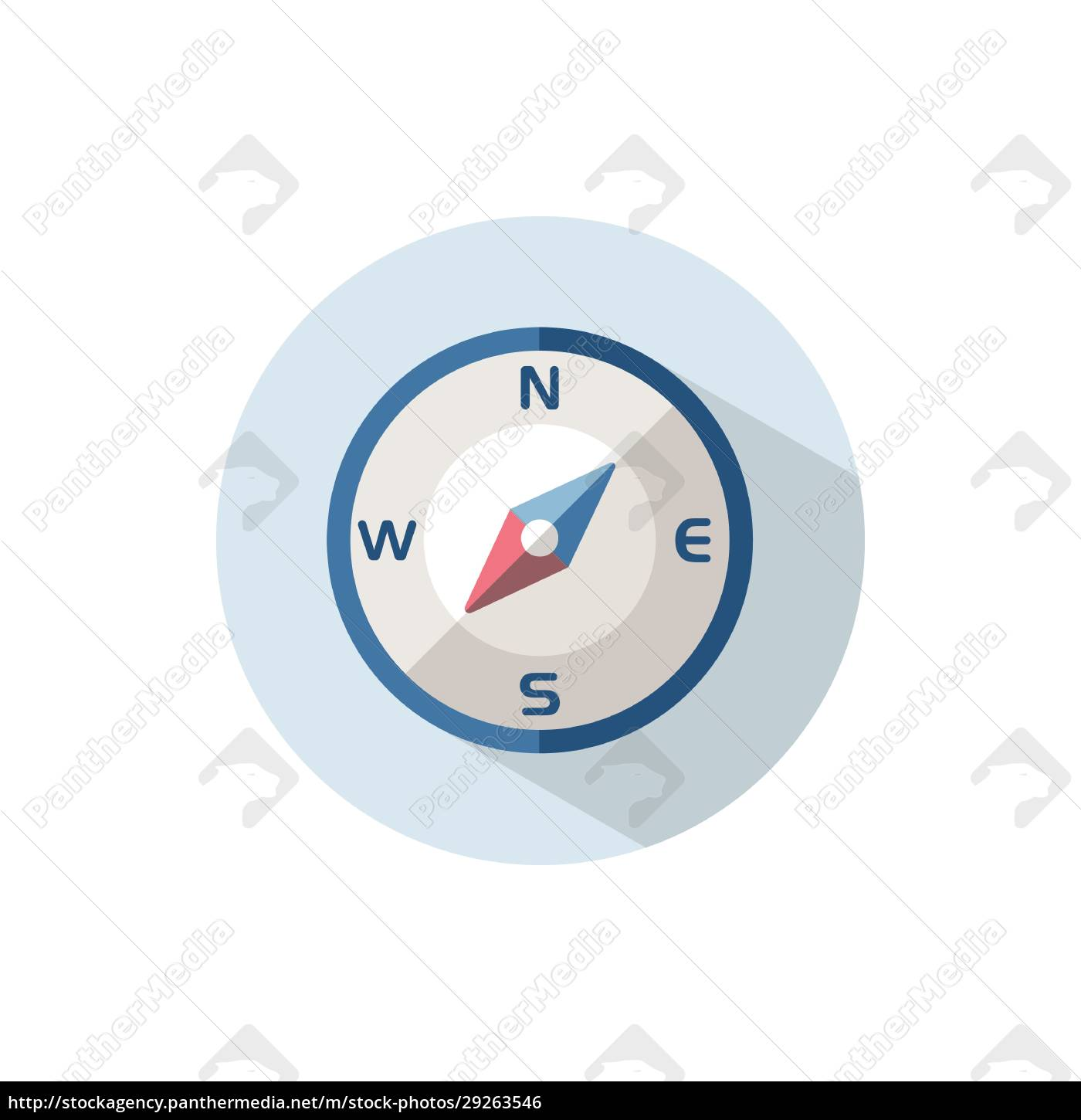 compass, south, west, direction., flat, icon - 29263546