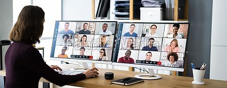 chamada de negocios webinar de videoconferencia