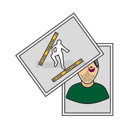 Icone de evidencia de fotografia