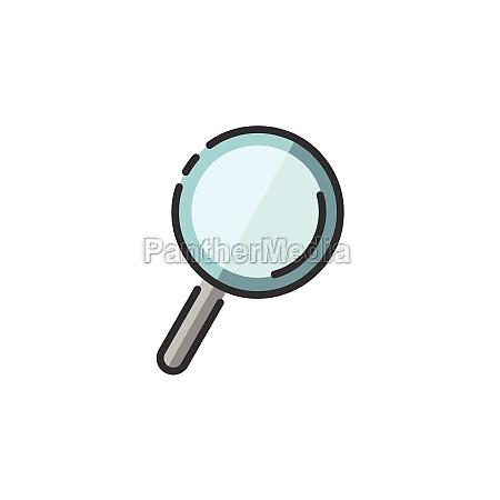 lupa pesquisa e analise Icone de
