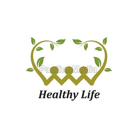 vida saudavel pessoas logotipo modelo vetor
