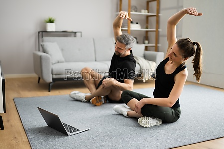 treino de fitness em casa do
