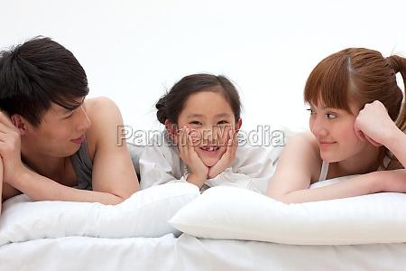 felicidade oriental figuras uma familia de