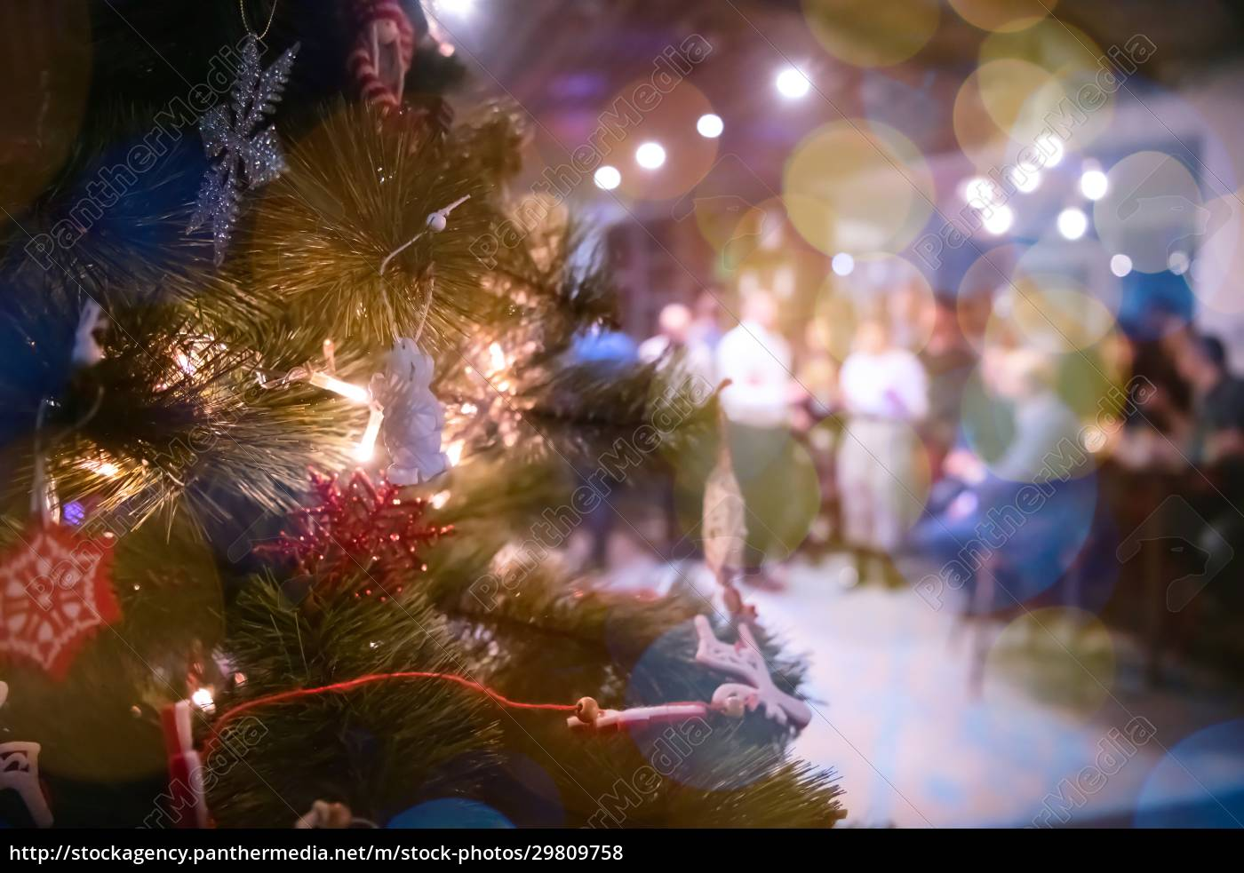 christmass, tree, decorationon, office, party - 29809758