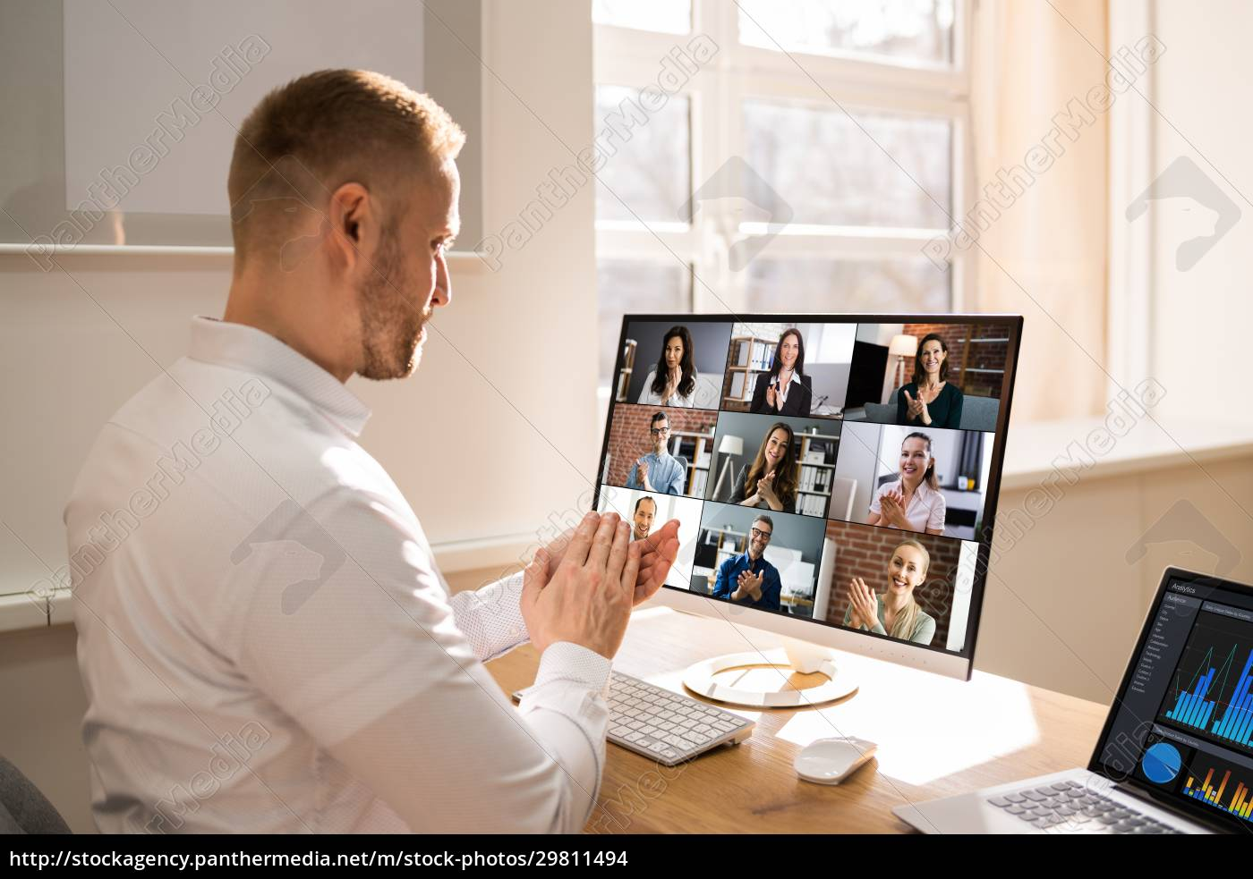 virtual, conference, meeting, interview - 29811494