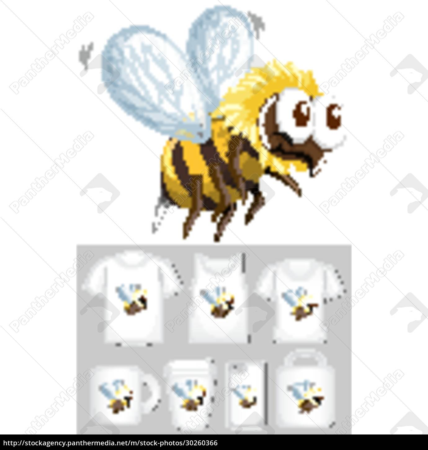 graphic, of, bee, on, different, product - 30260366