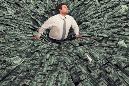 dinheiro, negócios, financeira, queda, homem, preto - B187506700